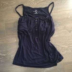 Navy Blue Tank Top with Built in Bra
